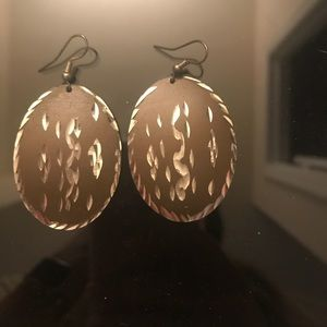 Jewelry - Brown earrings with silver accents